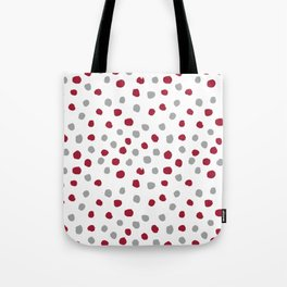 University of Alabama colors dots polka dots minimal pattern college football sports Tote Bag