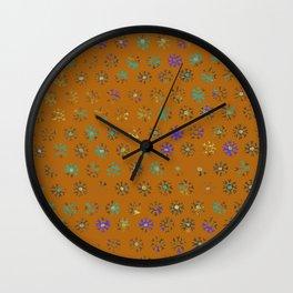 Primitive Sun Print--faded, distressed, tribal Wall Clock