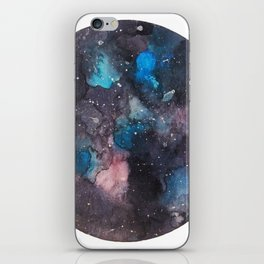 Galaxy round shape with stars iPhone Skin