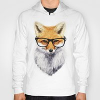 hipster Hoodies featuring Mr. Fox by Isaiah K. Stephens