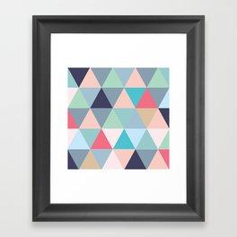 Geo Pastels Framed Art Print