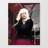 blondie Canvas Prints featuring Blondie by Euan Anderson
