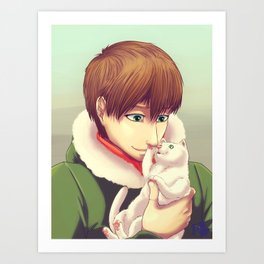 Soft kitty warm kitty Art Print