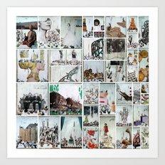 100 Days of Bunnies Poster  Art Print