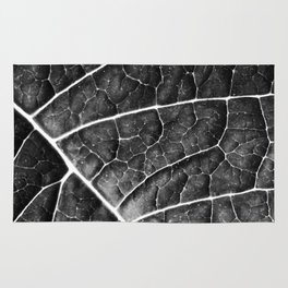 LEAF STRUCTURE no2a BLACK AND WHITE Rug