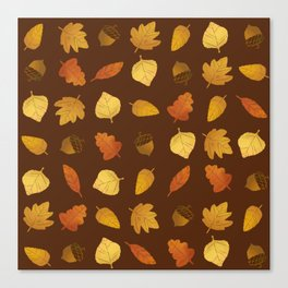 Leaf Lovers in Syrup Canvas Print