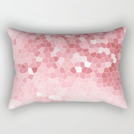 Mosaic Blush Pink Cabbage Abstract Art | Spring Rectangular Pillow