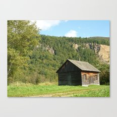 Woodcabin Canvas Print