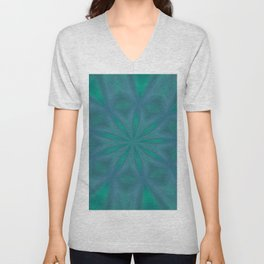 Aurora In Jade and Blue Unisex V-Neck