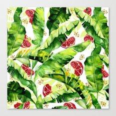 Banana leaf & Pomegranate Canvas Print