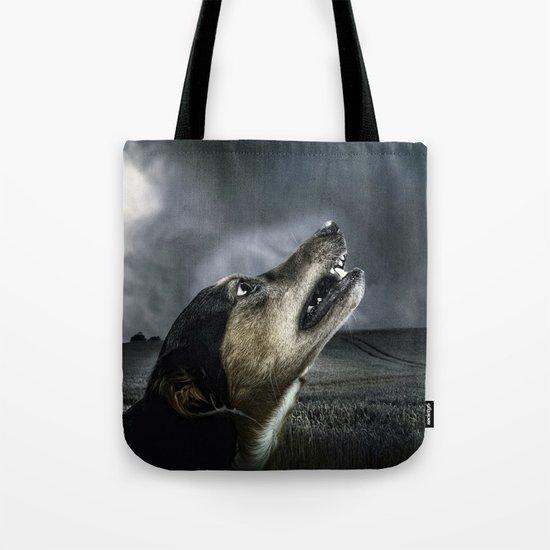 Dog moonlight 1 Tote Bag