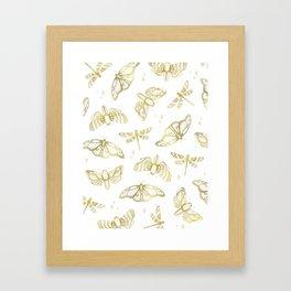 Golden Wings Framed Art Print