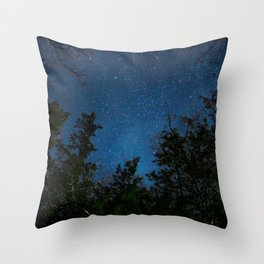 Stars above the Forest Throw Pillow