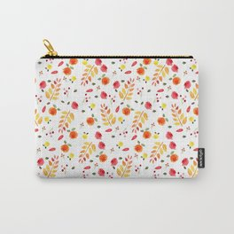 Floral Autumn Pattern Carry-All Pouch