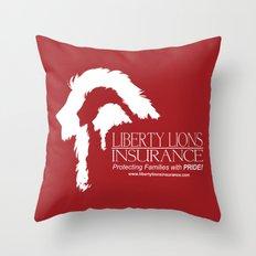 Liberty Lion Insurance Logo Throw Pillow