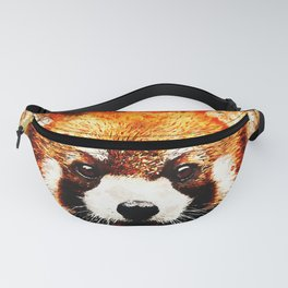 red panda portrait ws std Fanny Pack