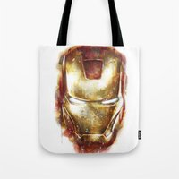 iron man Tote Bags featuring Iron Man by beart24