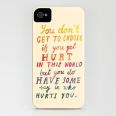 If You Get Hurt Poster Slim Case iPhone (4, 4s)