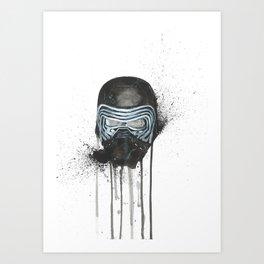 Kylo Ren - Empty Mask Art Print