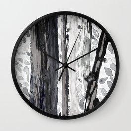 Rainbow Eucalyptus Graffiti artist tree from shedding bark South Pacific Black and White Night Wall Clock