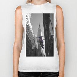 New York Black white Biker Tank