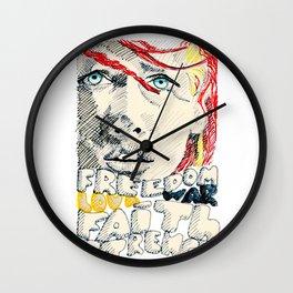 Leeloo Dallas portrait Wall Clock