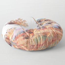 Queen Anne's lace_pastel art Floor Pillow