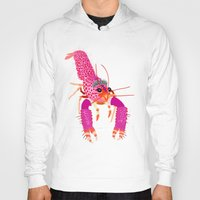 lobster Hoodies featuring lobster by Elise Cayouette