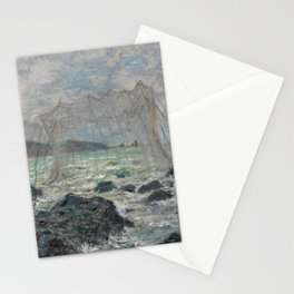 Fishing Nets at Pourville Stationery Cards
