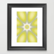 Yellow Abstract Flower Framed Art Print