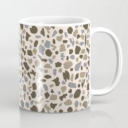 Terrazzo in brown and gray on cream Coffee Mug