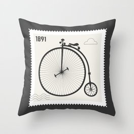 Penny Farthing 1891 Throw Pillow