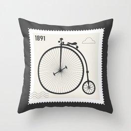 Penny Farthing 1891 Throw Pillow