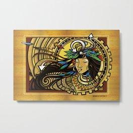 The Wind Gourd of La'amaomao ~ Urban Indigenous Version Metal Print