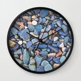 Wet Beach Stones Wall Clock