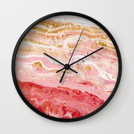 PINK LAKE Wall Clock