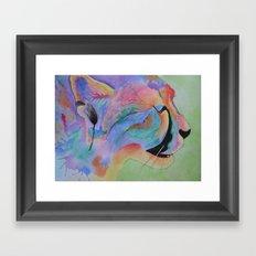Vibrant Cheetah Framed Art Print
