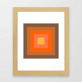 Warm Orange Framed Art Print