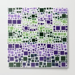 Block on Block purple Metal Print