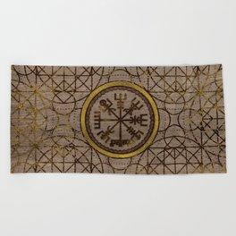Vegvisir. The Magic Navigation Viking Compass Beach Towel