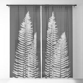 Pacific Northwest Silver Fern Forest Adventure Sheer Curtain