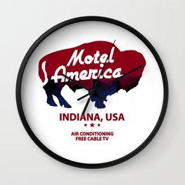 Motel America Indiana Wall Clock