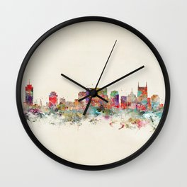 city nashville tennessee Wall Clock