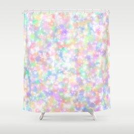 Rainbow Bubbles of Light Shower Curtain