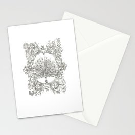 Military Peacock Stationery Cards
