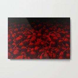 cherries pattern hvhddr Metal Print