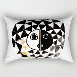 African Sun Mask Rectangular Pillow
