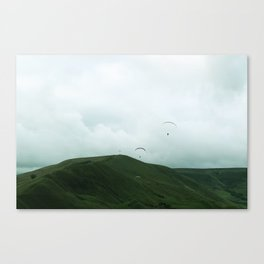 Paragliders in the Peak District Canvas Print