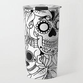Sugar Skulls with Lilies Travel Mug
