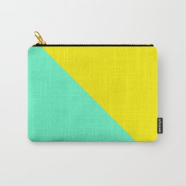 Modern bright lemon and mint color block Carry-All Pouch